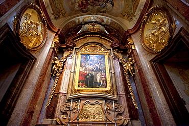 St. Leopold's Altar in the Abbey Church of Stift Melk Benedictine Monastery, Lower Austria, Austria