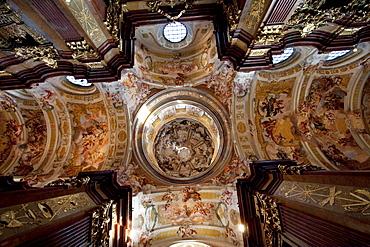 Cupola of the Abbey Church of Stift Melk Benedictine Monastery, Lower Austria, Austria