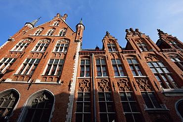 Building on Markt (Market square), Bruges (Brugge), West Flanders, Belgium