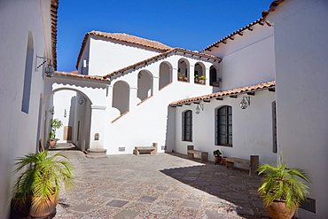 Second courtyard of Casa de la Libertad (Liberty House), former Assembly Hall of the Jesuit University, where Bolivia's Declaration of Independence was signed in Sucre, Chuquisaca Department, Bolivia