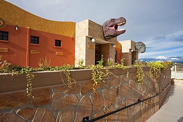 Entrance to the Cretacic Park by Cal Orck'o, Chuquisaca Department, Bolivia
