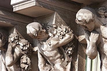 Atlantes of a Jugendstil building, Sarajevo, Sarajevo, Bosnia & Herzegovina