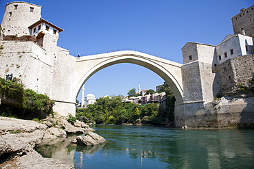 Old Bridge (Stari Most) over the Neretva River, Mostar, Herzegovina-Neretva, Bosnia & Herzegovina