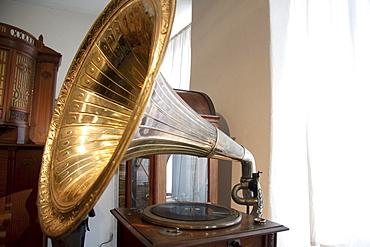 Gramophone on display at Siegfried's Mechanical Music Cabinet, Rüdesheim, Hessen, Germany