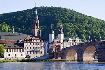 Carl-Theodor-Brücke (Old Bridge) over the Neckar River, Heidelberg, Baden-Württemberg, Germany