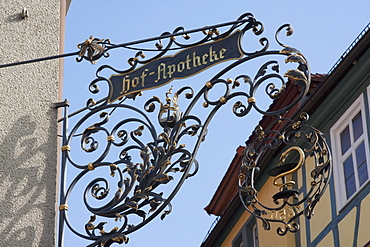 Pharmacy sign, Wertheim am Main, Baden-Württemberg, Germany