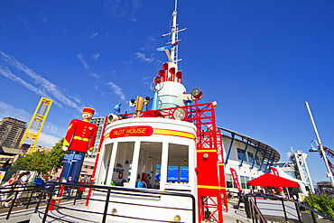 World's Largest Tin Soldier and Pilot House at Westminster Quay, New Westminster, British Columbia, Canada
