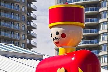World's Largest Tin Soldier at Westminster Quay, New Westminster, British Columbia, Canada