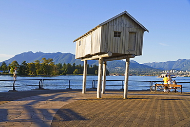 LightShed, sculpture by Liz Magor in Coal Harbour, Vancouver, British Columbia, Canada