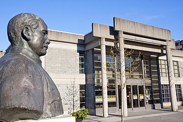 Bust of Dr. Sun Yat Sen at the Chinese Cultural Centre in Chinatown, Vancouver, British Columbia, Canada