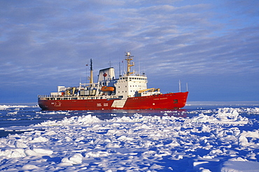 Canadian Coast Guard Icebreaker, in the sea between Ellesmere Island and Greenland