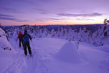 Skiers, Pic de l'aube, Gaspesie National Park, Quebec