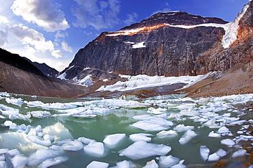 Mt. Edith Cavell and Angel Glacier, Jasper National Park, Alberta.