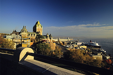 Sunrise on Chateau Frontenac, Quebec City Quebec.