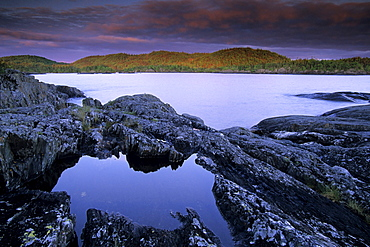 Sunrise, Hattie Cove, Pukaskwa National Park, Lake Superior, Ontario.