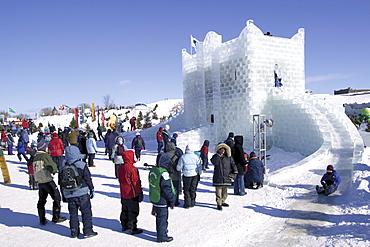 Ice Castle in Quebec Carnival, Quebec City, Quebec