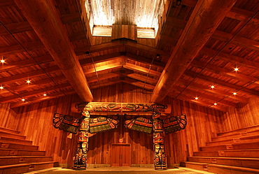 Traditional First Nations Longhouse, Klemtu, British Columbia, Canada