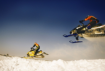 Snowmobile Races, Yellowknife, North West Territories