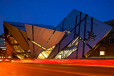 Exterior of the Lee Chin Crystal Building at the Royal Ontario Museum, Toronto, Ontario