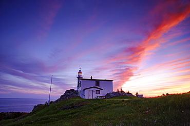 Lobster Cove Head Lighthouse Twilight, Gros Morne National Park, Newfoundland