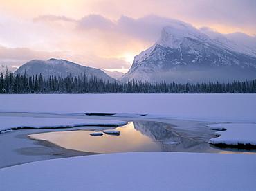 Vermilion Lakes and Mt. Rundle, Banff National Park, Alberta, Canada