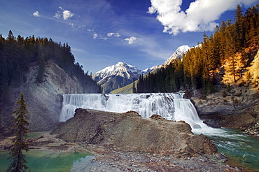 Wapta Falls, Kicking Horse River, Yoho National Park, British Columbia, Canada