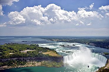 Horseshoe Falls and the Niagara River, Niagara Falls, Ontario, Canada