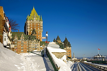 Chateau Frontenac in the Winter, Quebec City, Quebec