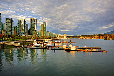 New high rise condominiums on waterfront, Coal Harbour, Vancouver British Columbia