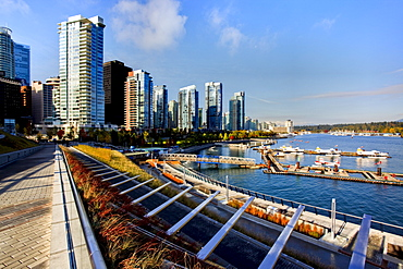 New high rise condominiums on waterfront at Coal Harbour, Vancouver, British Columbia