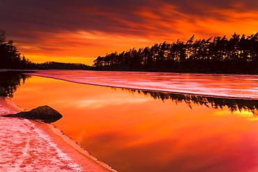 Spring Thaw Sunset, Rocky Lake, Nova Scotia