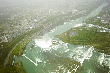Aerial view of Niagara Falls, Ontario, Canada