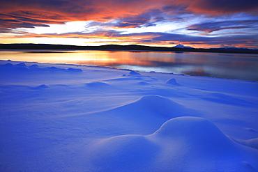 Sunset over Teslin Lake, Teslin, Yukon
