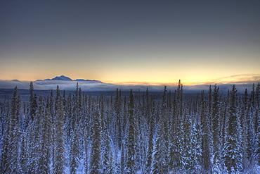 Sunset over Dawson Peaks, Teslin, Yukon