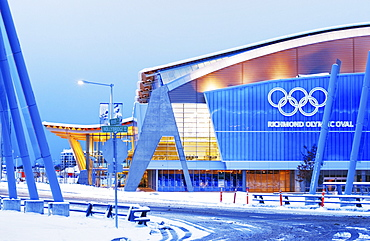 Exterior of the Richmond Olympic Oval, speed skating venue for the 2010 Olympic and Paralympic Winter Games, Richmond, British Columbia