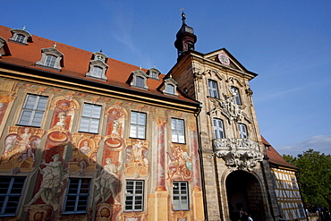 Altes Rathaus (Old Town Hall) built in the middle of the Regnitz River in 1386, Bamberg, Bavaria, Germany