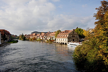 Fishermen's cottages in Klein-Venedig along the Regnitz River, Bamberg, Bavaria, Germany