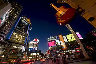 Dundas Square and Yonge Street at Night, Toronto, Ontario