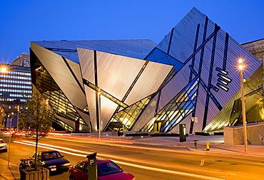 Michael Lee Chin Crystal Building at the Royal Ontario Museum, Toronto, Ontario