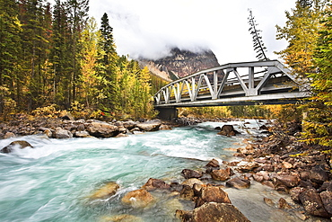 Bridge crossing the Yoho River, Yoho National Park, British Columbia, Canada