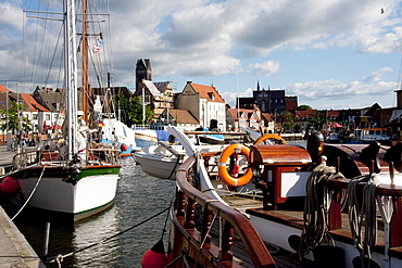 Sailing boats in Alter Hafen (Old Port), Wismar, Germany
