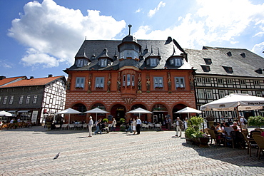 Hotel Kaiserworth, located in the former Guild House on the Marktplatz (Market Place), Goslar, Germany