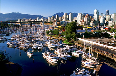 Vancouver Skyline and Harbour, Vancouver, British Columbia.