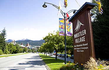 Welcome to Whistler sign, British Columbia