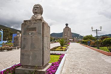 Mitad del Mundo (Middle of the World) Monument near the Equator, Pichincha, Ecuador