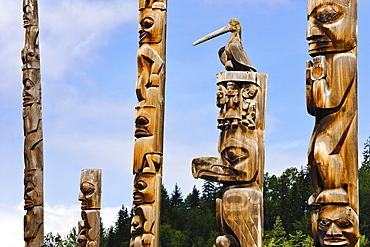Totem Poles, Kitwanga, Northern British Columbia
