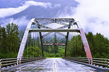 Bridge over Exchamsiks River on Yellowhead Highway, British Columbia