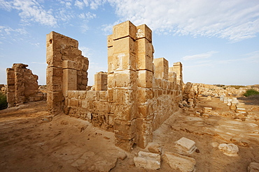 Archaeological remains of the Christian holy city built over the tomb of the martyr Menas of Alexandria, Abu Mena, Egypt