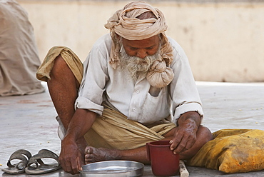 Old man, Gaya, Bihar, India