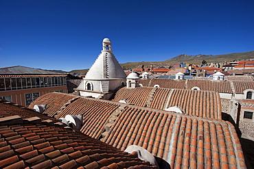 Cupola atop the roof of the Casa Nacional de Moneda (National Mint), Potosi, Bolivia